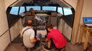 Filmaufnahmen zum Imagevideo Seminarreihe Manager im Cockpit