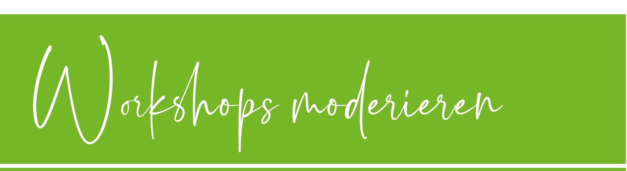 Workshops moderieren
